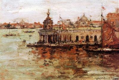 Chase William Merritt Venice View of the Navy Arsenal