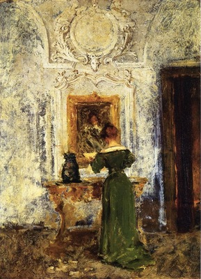 Chase William Merritt Woman in Green aka Lady in Green