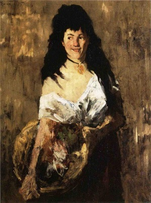Chase William Merritt Woman with a Basket
