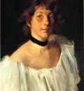 Chase William Merritt Portrait of a Lady in a White Dress aka Miss Edith Newbold