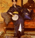 Chase William Merritt The Blue Kimono
