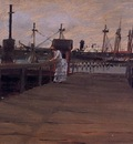 Chase William Merritt Woman on a Dock