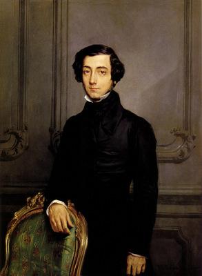 chasseriau theodore portrait of alexis de toqueville