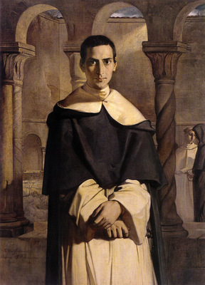 Chasseriau Theodore Portrait of the Reverend Father Dominique Lacordaire of the Order of the Pred