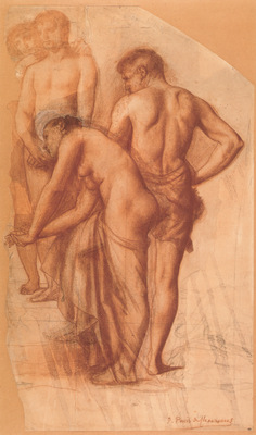 Chavannes Study for Four Figures in Rest