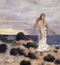 Chavannes Pierre Puvis Woman By The Sea