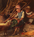 Chierici Gaetano Feeding The Lambs