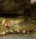 Claus Emile Picking Blossoms