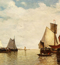 Clays Paul Jean Moored Ships In A Small Harbour