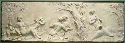 Clodion Nymphs Bathing with Leda and the Swan