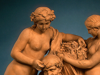 Clodion Silenus Crowned by Nymphs 1768 dt1