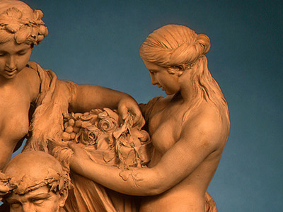 Clodion Silenus Crowned by Nymphs 1768 dt2
