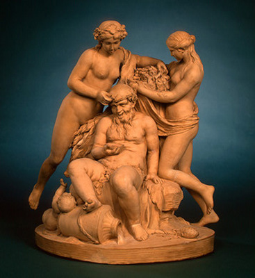 clodion silenus crowned by nymphs