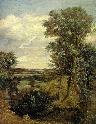 CONSTABLE DEDHAM VALE, 1802, OIL ON CANVAS