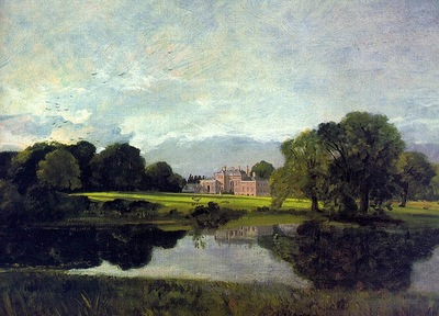 CONSTABLE MALVERN HALL, 1809, OIL ON CANVAS