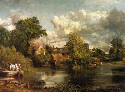 CONSTABLE THE WHITE HORSE, 1819, OIL ON CANVAS