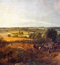 constable stour valley and dedham village, approx  1814,