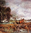 CONSTABLE THE LEAPING HORSE, 1825, OIL ON CANVAS