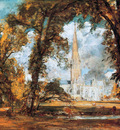 Constable John The cathedral of Salisbury Sun