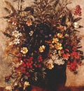 constable autumn berries and flowers in brown pot c1814