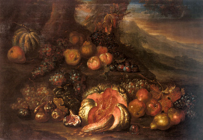 Cooper Joseph Teal Still Life Of Fruit