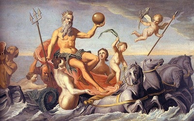 COPLEY THE RETURN OF NEPTUNE, 1754, OIL ON CANVAS