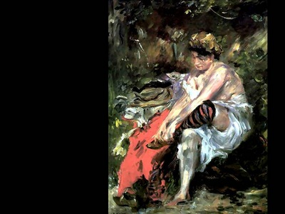 erotic art csg006 after the bath lovis corinth