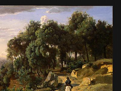 Corot A View near Volterra, 1838, Detalj 1, NG Washington