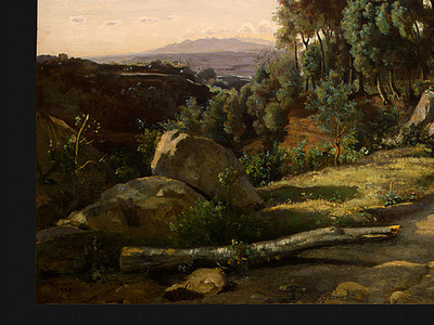 Corot A View near Volterra, 1838, Detalj 4, NG Washington