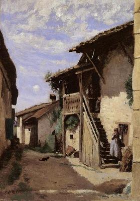 Corot A Village Steeet Dardagny