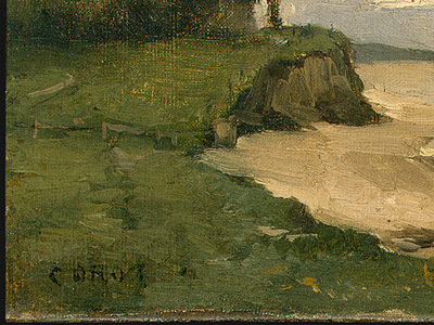 Corot Beach near Etretat, 1872, Detalj 1, NG Washington