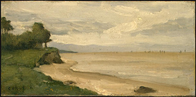 Corot Beach near Etretat, 1872, NG Washington