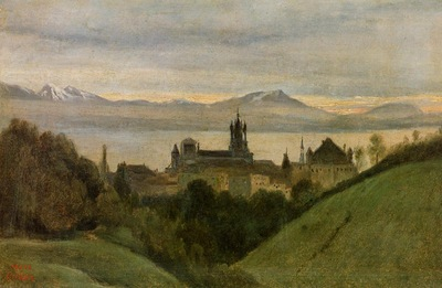 Corot Between Lake Geneva and the Alps