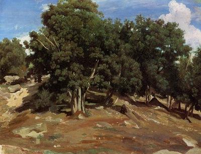 Corot Fontainebleau Black Oaks of Bas Breau