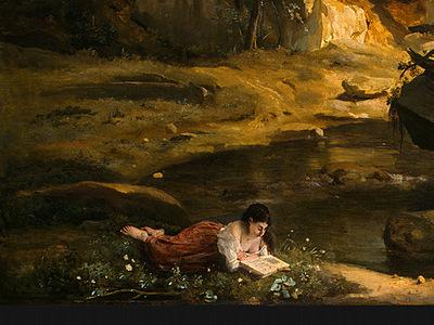 Corot Forest of Fontainebleau, c  1830, Detalj 4, NG Washing