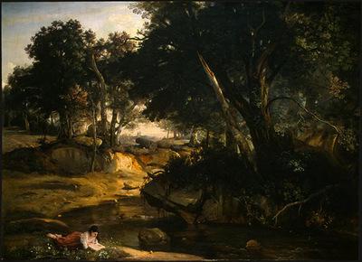 Corot Forest of Fontainebleau, c  1830, NG Washington