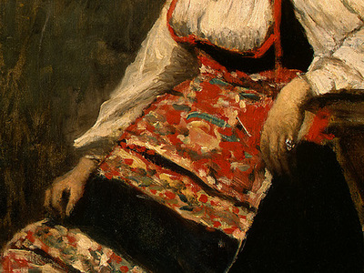 Corot Italian Girl, c  1871 1872, Detalj 3, NG Washington
