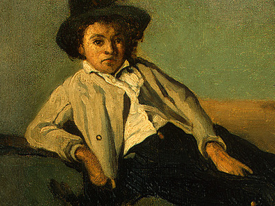 Corot Italian Peasant Boy, 1825 1826, Detalj 1, NG Washingto