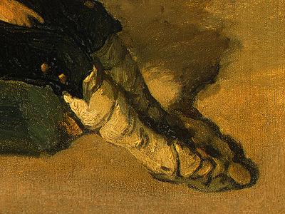 Corot Italian Peasant Boy, 1825 1826, Detalj 3, NG Washingto
