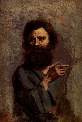 Corot Jean Baptiste Camille Corot Head Of Bearded Man
