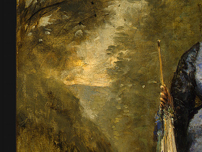 Corot Madame Stumpf and Her Daughter, 1872, Detalj 2, NG Was