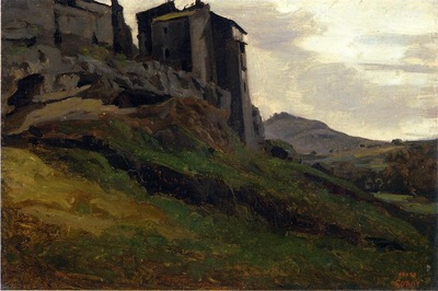 Corot Marino Large Buildings on the Rocks