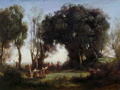 Corot Morning, the Dance of the Nymphs, ca 1850, Louvre