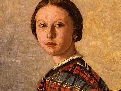 Corot Portrait of a Young Girl, 1859, Detalj 1, NG Washingto