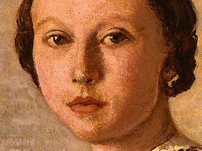 Corot Portrait of a Young Girl, 1859, Detalj 2, NG Washingto