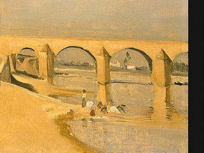 Corot River Scene with Bridge, 1834, Detalj 2, NG Washington