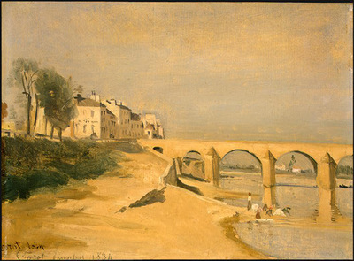 Corot River Scene with Bridge, 1834, NG Washington
