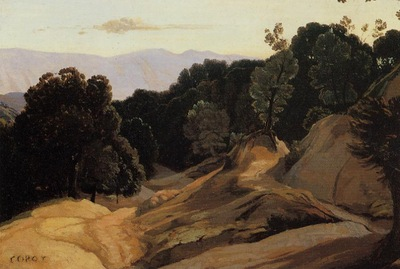 Corot Road through Wooded Mountains