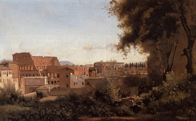 Corot Rome View from the Farnese Gardens Noon aka Study of the Coliseum