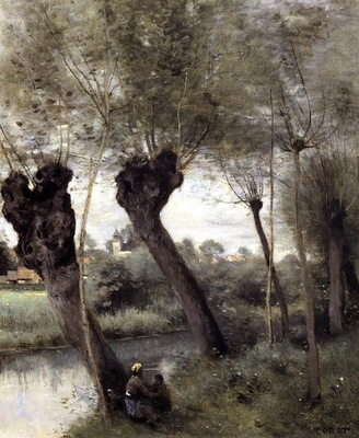 Corot Saint Nicholas les Arras Willows on the Banks of the Scarpe